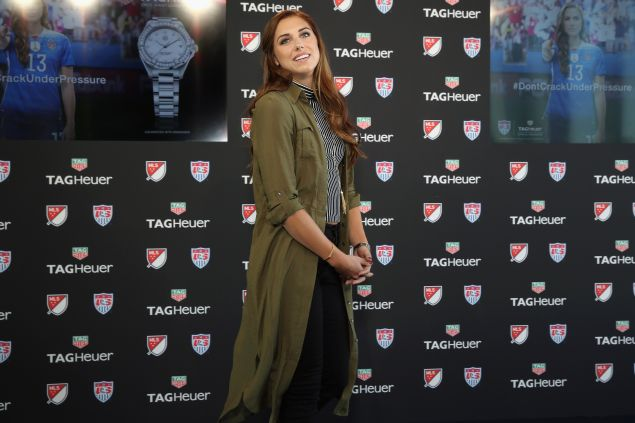 US Womens Soccer player, Alex Morgan for Tag Heuer