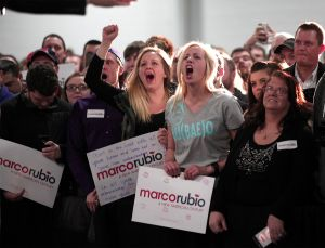 Supporters of Rubio in Michigan early this week.