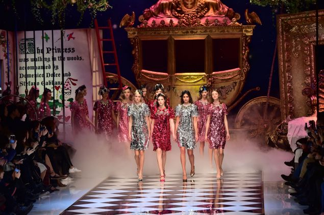 The sparkling finale at Dolce & Gabbana