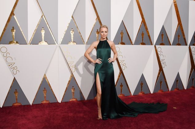 Rachel McAdams in an emerald design by August Getty