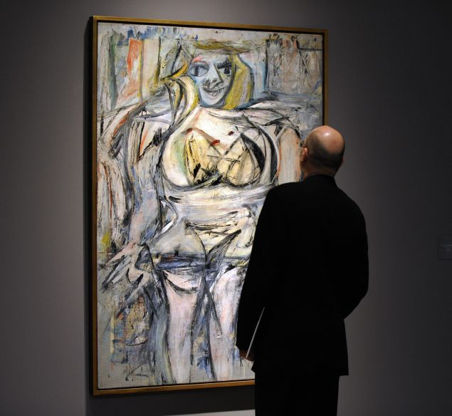 """A real copy of Willim de Kooning's piece """"Woman III"""" (Photo: Timothy Clary/Getty Images)"""