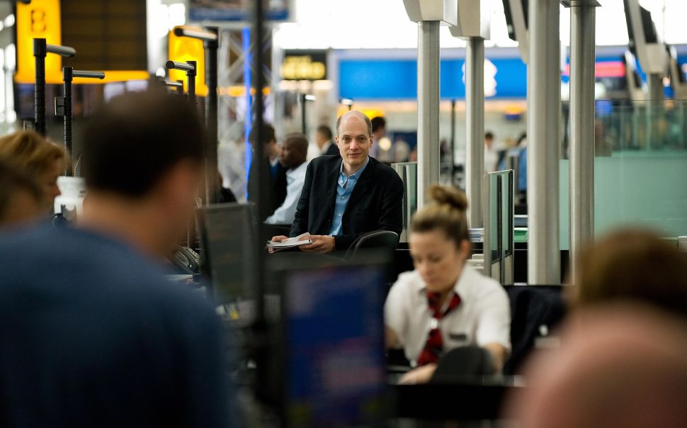School of Life co-founder Alain de Botton during his stint as Heathrow airport's writer-in-residence.