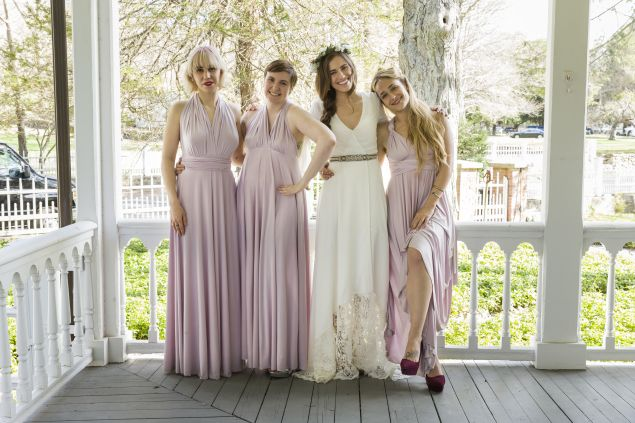 Zosia Mamet, Lena Dunham, Allison Williams and Jemima Kirke in Girls.