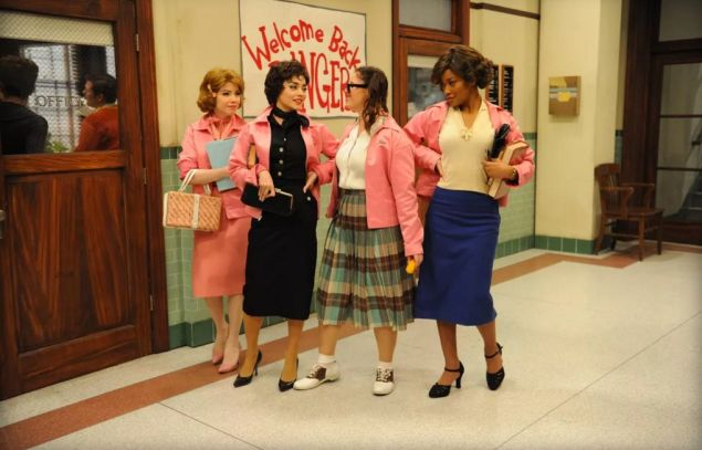 The new but not improved Pink Ladies of Grease Live!