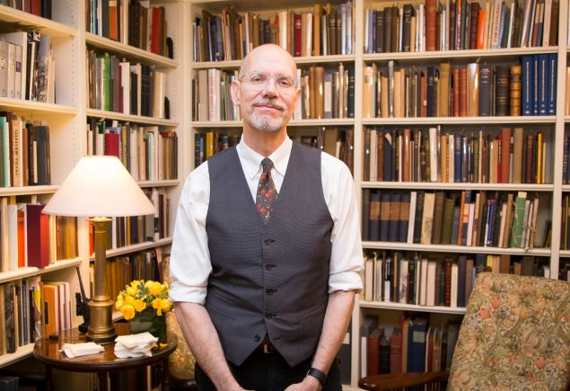 Eric Holzenberg photographed at Grolier Book Club for the New York Observer on 29 January 2016. PHOTO: Kaitlyn Flannagan for Observer