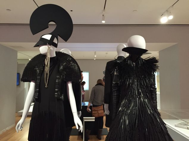 Ensemble with Brittania Headpiece and an additional ensemble from Gareth Pugh's Fall/Winter Ready-to-wear collection.