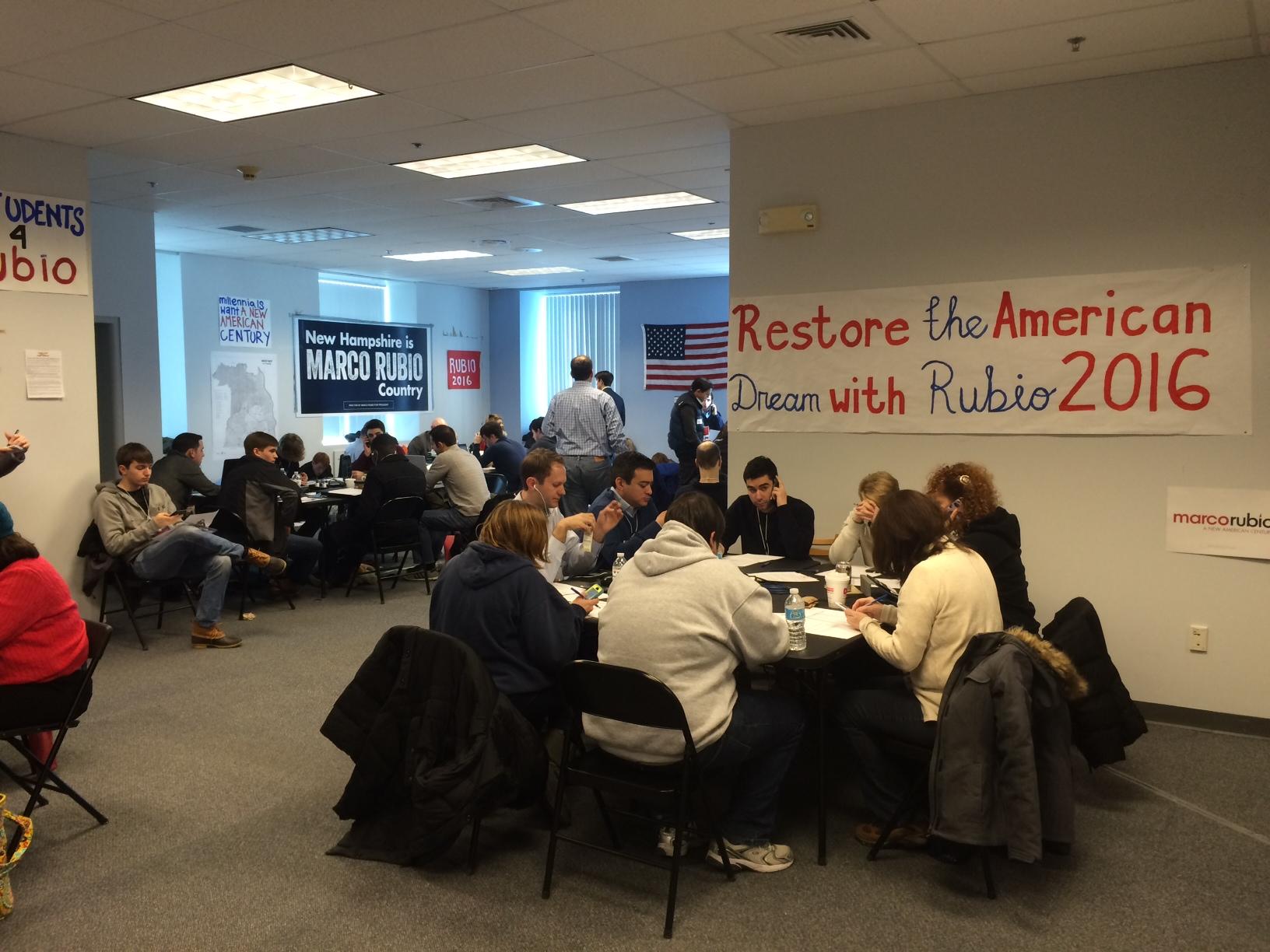 Rubio supporters make last-minute calls.