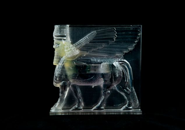 Morehshin Allahyari's 3D print reconstruction of Lamassu, also destroyed by ISIS (2015).