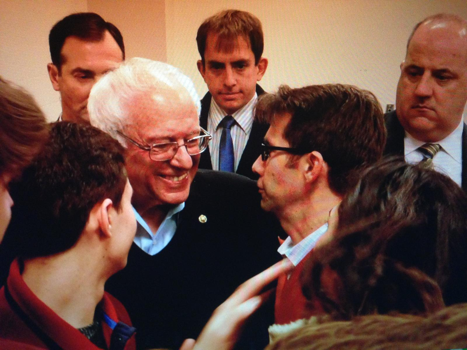 Sanders at an event in New Hampshire.
