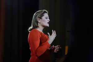 Council Speaker Melissa Mark-Viverito delivering her State of the City Speech today. (Photo: William Alatriste for New York City Council)