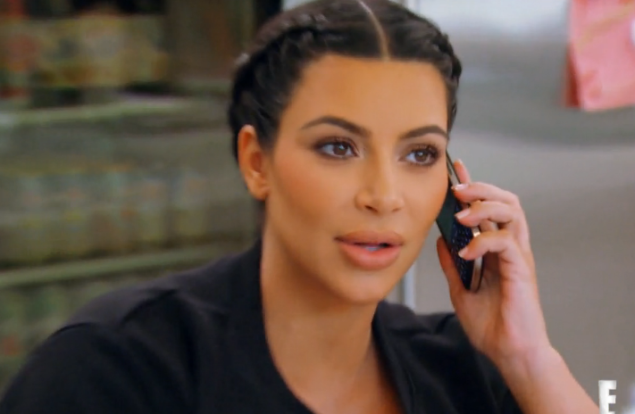 Kim Kardashian-West in the Keeping Up With The Kardashians season finale.