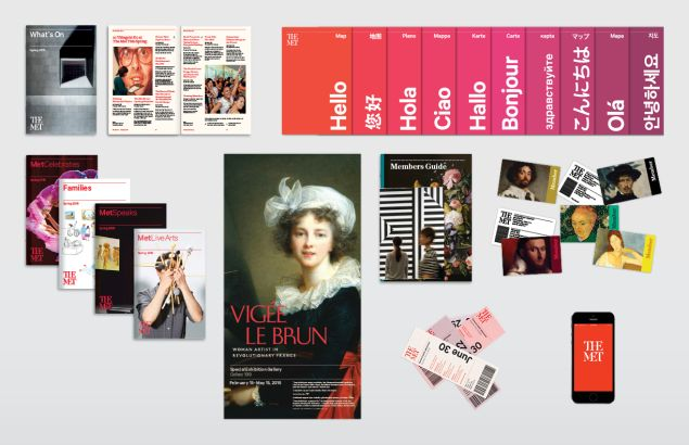 The first examples of the Met's new branding.