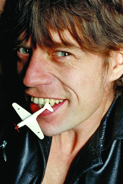 Mick With Plane, 1980.