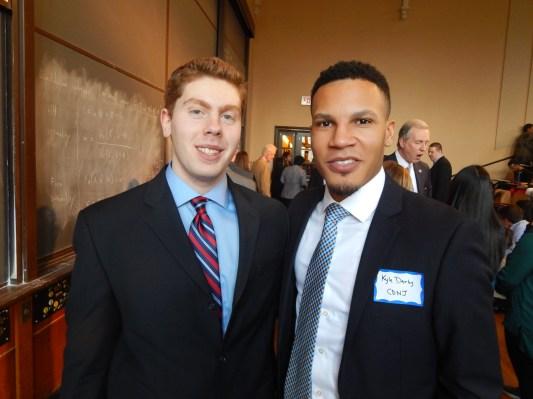 COLLEGE DEMS OF NJ: Fogelgaren, left, with VP Kyle Darby.