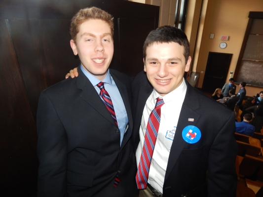 Young Dem Leaders Sam Fogelgaren, left, and Aylon Berger.
