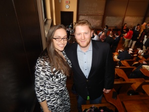 Event Organizer Mashall Spevak with Young Democrats of America VP Constantina Meis.