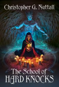 Cover of a book in the Schooled in Magic series.