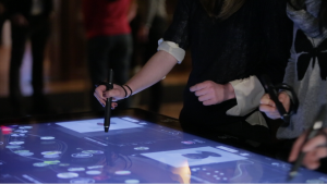 Cooper-Hewitt's pen and interactive tables, in action.(Photo: Local Projects)