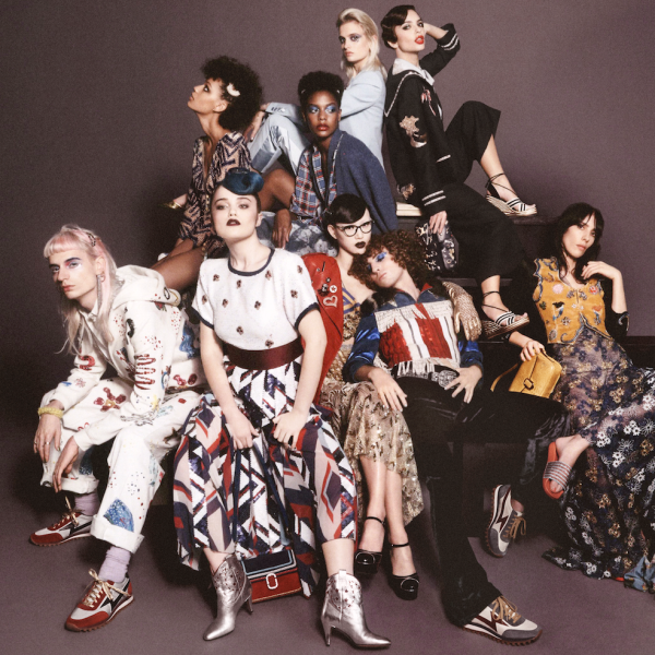 How many notable celebrities and models can you spot in this picture? (Photo: Courtesy Marc Jacobs).