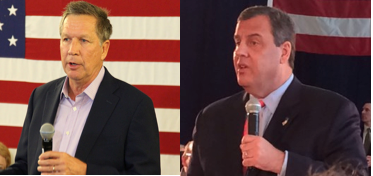 Kasich and Christie are both governors vying for the Republican nomination.