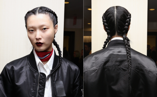 Braids and lip liner at Creatures of the Wind (Photo: Getty Images).