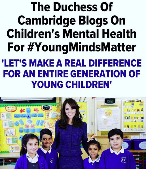 The Duchess is kicking of #YoungMindsMatter