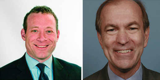 Josh Gottheimer (left) is challenging Scott Garrett.