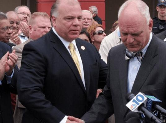 Senate President Steve Sweeney and Atlantic City Mayor Don Guardian