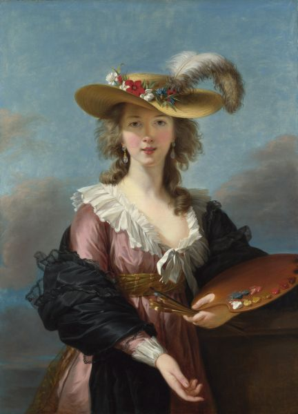 Elisabeth Louise Vigée Le Brun, Self-portrait in a Straw Hat, 1782.