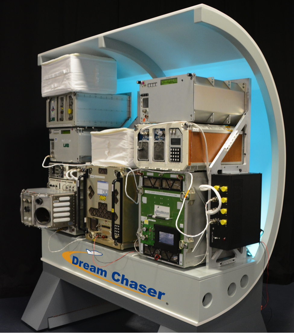 SNC's Dream Chaser Science Mission Mock-Up (Image: SNC)