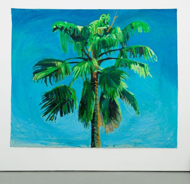 Yutaka Sone's Sky and Palm Tree Head #5, 2013. (Image: Courtesy David Zwirner New York/ London)