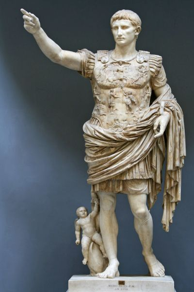Statue of Caesar Augustus, who first instituted a leap day.