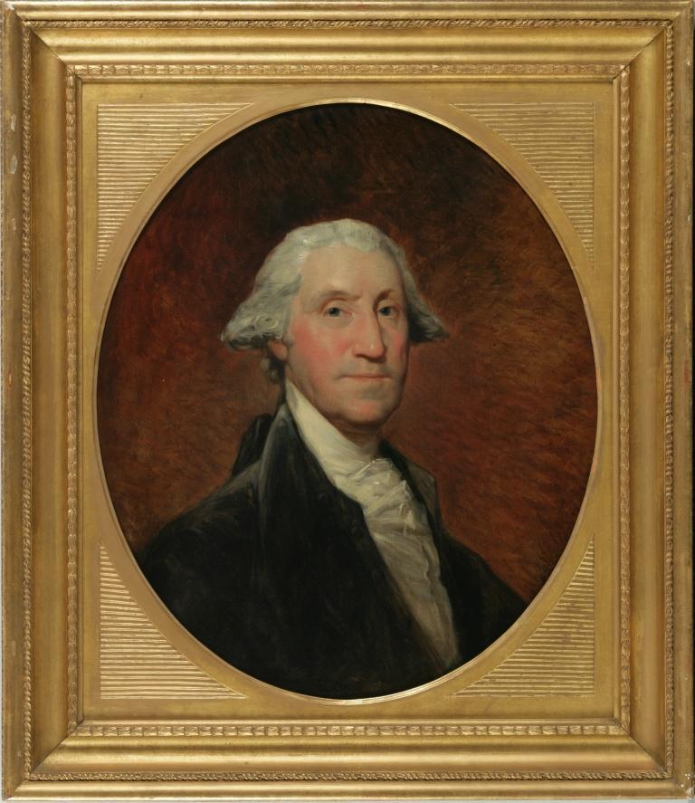 George Washington, (ca. 1795) by Gilbert Stuart.