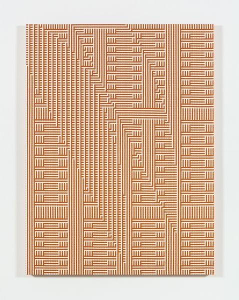 Tauba Auerbach's Shadow Weave - Metamaterial/Slice Ray, 2013. (Image: Courtesy Paula Cooper Gallery, New York)