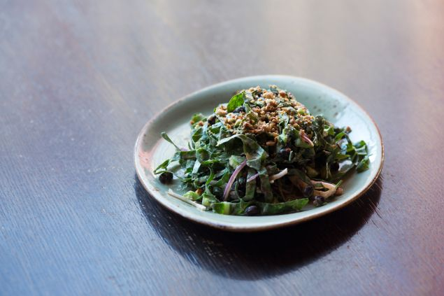The Cecil_ Collard Green Salad Adzuki Red Beans, Candied Cashews, Coconut Dressing Photo Credit- Lindsay Talley