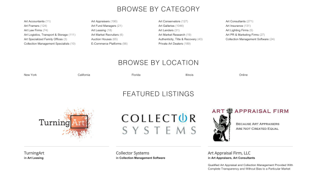 While on The Clarion List, clients can search by category, location and featured listings to find exactly what they need in the art world. (Photo: Jessica Paindiris/ The Clarion List)