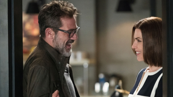 Jeffrey Dean Morgan and Julianna Margulies in The Good Wife.