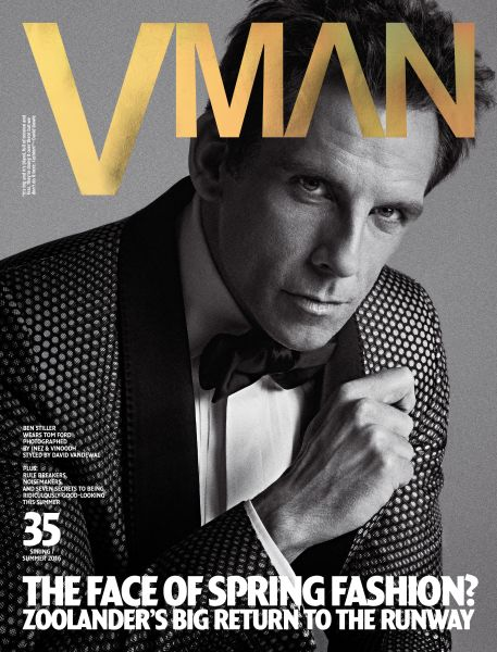 Mr. Stiller does blue steel for V Man (Photo: Courtesy V Man).