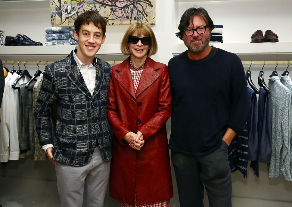 Alex Sharp, Anna Wintour, Billy Reid (Photo: Astrid Stawiarz for Getty Images).