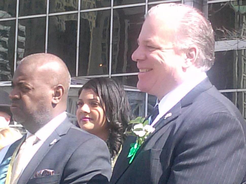 From Left: Newark Mayor Ras Baraka, Essex County Freeholder President Britnee Timberlake, and Sweeney.