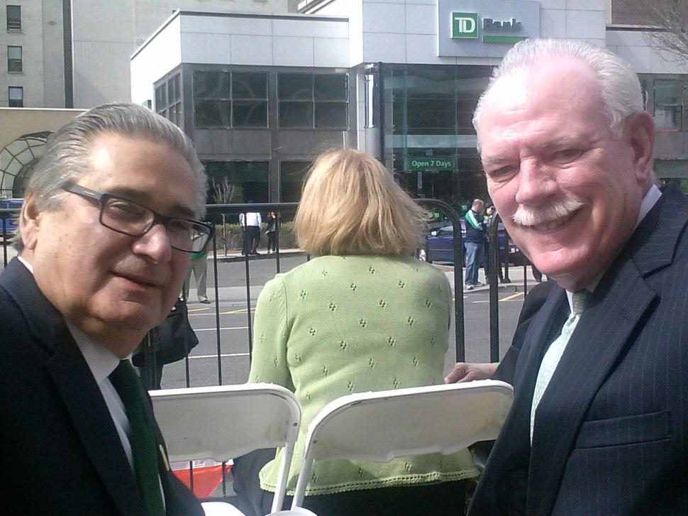 Essex Insiders: Joe Parlavecchio, left, and Tom Barrett, indefatigable compiler of PolitickerNJ's annual Irish American Leaders List.