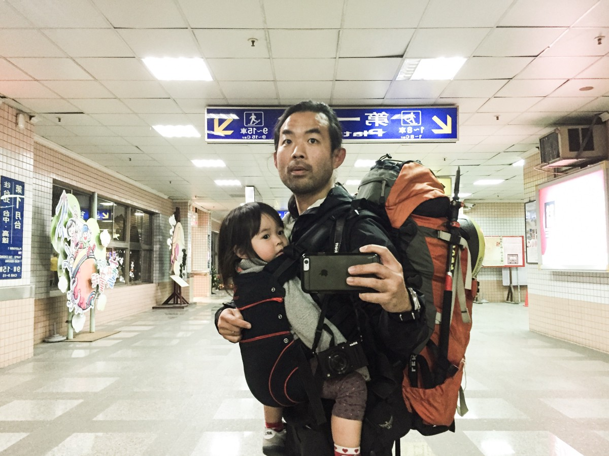 Thats the two of us, with everything that we needed for 8 days of mini adventure. Luo Dong, Taiwan.