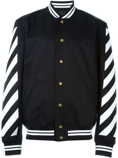 Off-White Striped Varsity Jacket, $1,060, Farfetch.com