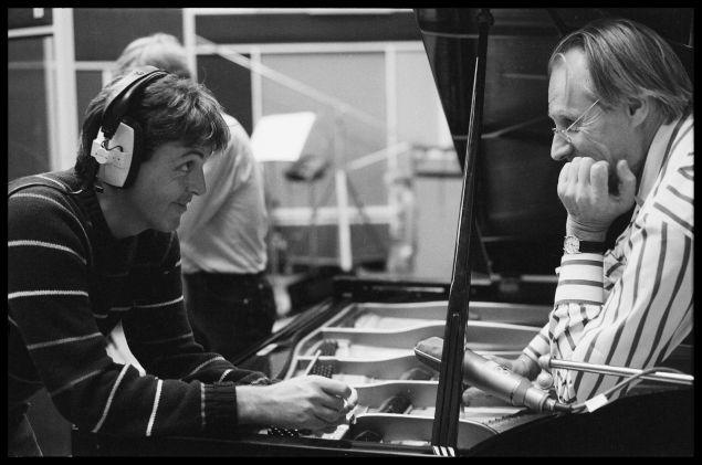 Paul Mccartney and George Martin.