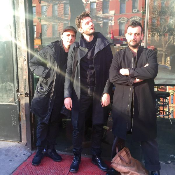 Moderat on Avenue A outside East Village Radio