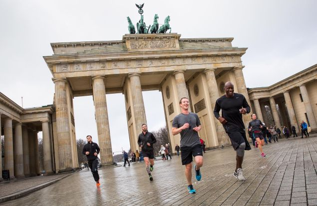 Running in Berlin.