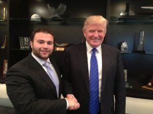 Councilman Joseph Borelli, left, with Donald Trump.