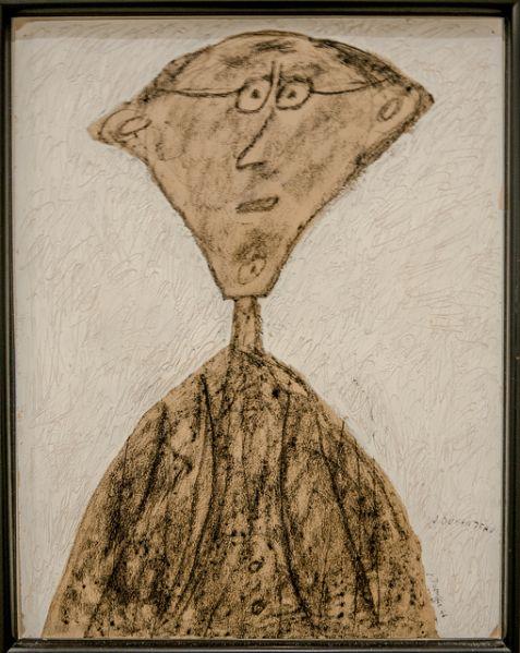 Jean Dubuffet, Jouhandeau aux lunettes, 1946.