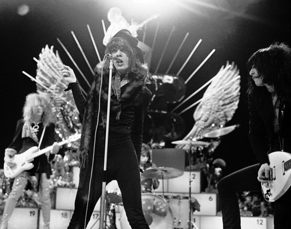 The New York Dolls perform live on TopPop TV show for AVRO TV at Hilversum Studios on December 06 1973.