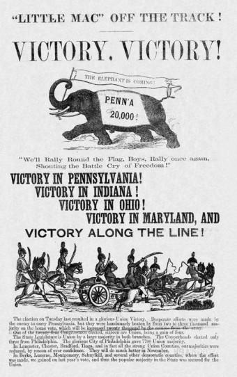 1864 republican campaign elephant.